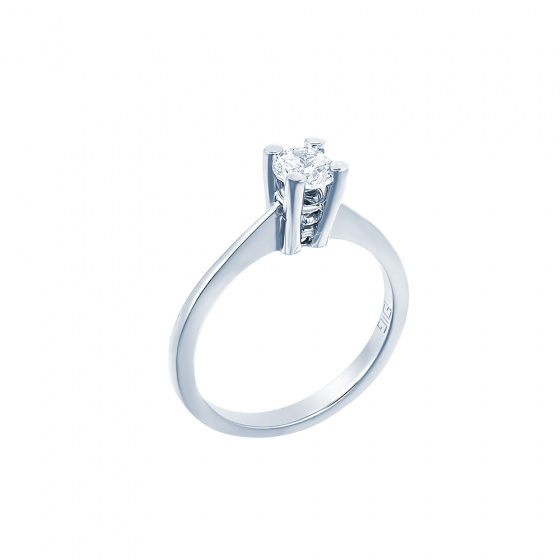 "Image of """"Eternity Plus 039"" white gold engagement ring K14"""