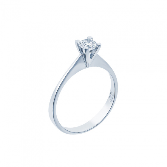 "Image of """"Eternity Plus 041"" white gold engagement ring K14"""