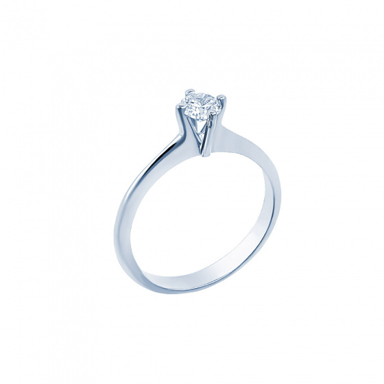 "Image of """"Eternity Plus 046"" white gold engagement ring K14"""
