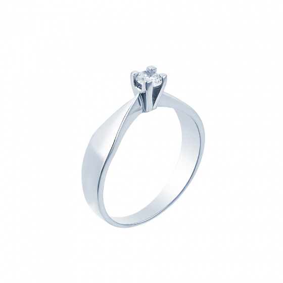 "Image of """"Eternity Plus 051"" white gold engagement ring K14"""