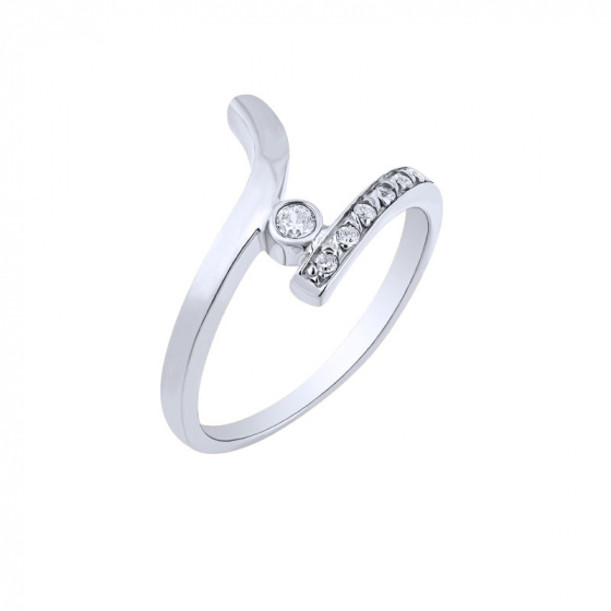 "Image of """"Signature"" white gold ring K14"""