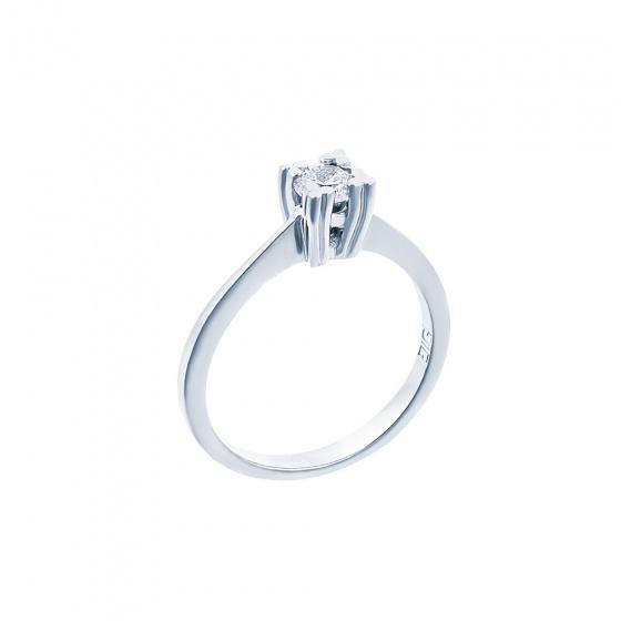 "Image of """"Eternity Premium 026"" white gold engagement ring K18 with VS1 diamond"""