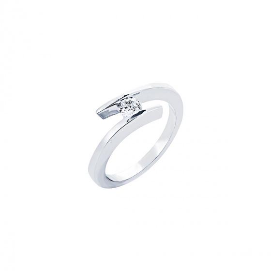 """Εικόνα του """"Λευκόχρυσο δαχτυλίδι Κ18 """"Fabulous"""" με μπριγιάν VS"""""""