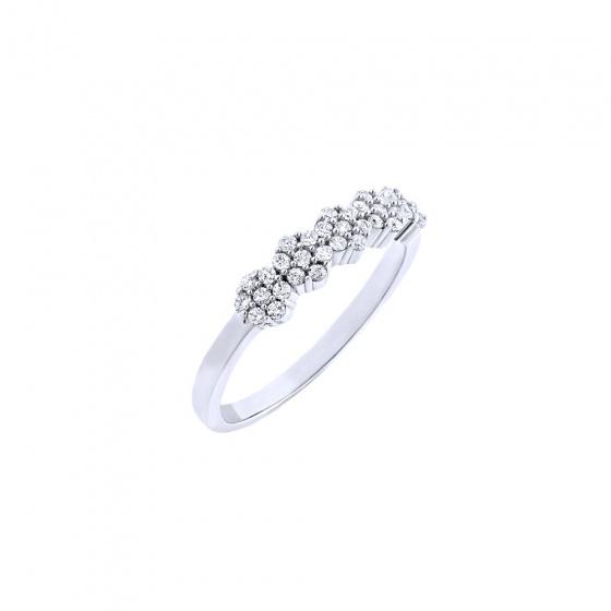 """Εικόνα του """"Λευκόχρυσο δαχτυλίδι Κ14 """"Luxurious"""""""""""