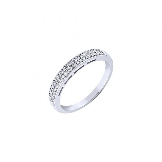 """Εικόνα του """"Λευκόχρυσο δαχτυλίδι Κ14 με μπριγιάν, BRI17929"""""""