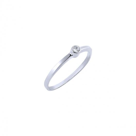 """Εικόνα του """"Λευκόχρυσο δαχτυλίδι Κ14 """"Fancy"""""""""""