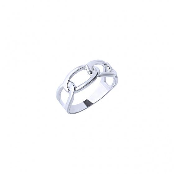 """Εικόνα του """"Λευκόχρυσο δαχτυλίδι Κ14 """"Bun"""""""""""