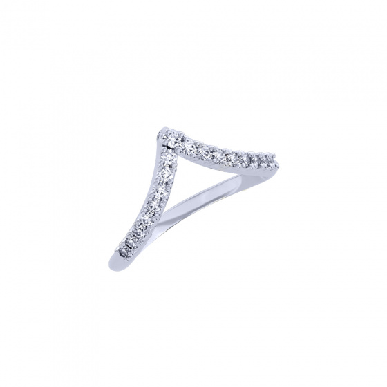 """Image of """"""""Alcyone"""" white gold K14 ring"""""""