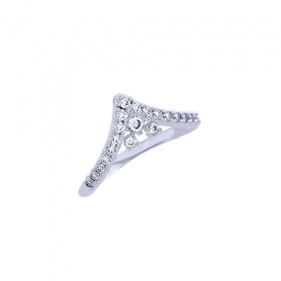 """Image of """"""""Ariadne"""" white gold K14 ring"""""""