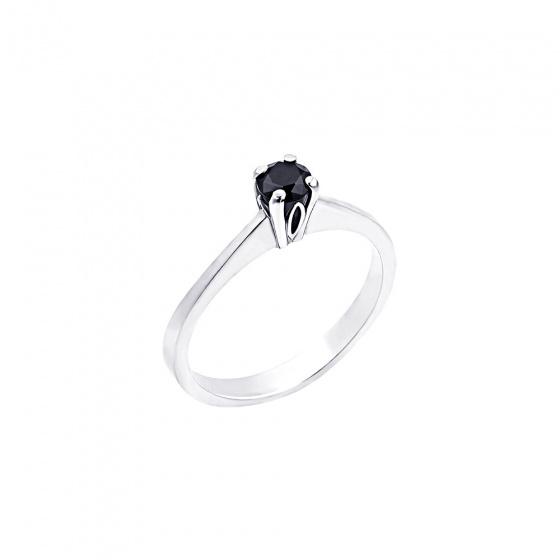 "Image of """"Eternity Plus Black 038"" white gold engagement ring K14"""