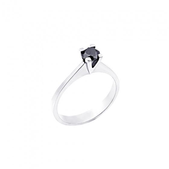 "Image of """"Eternity Plus Black 041"" white gold engagement ring K14"""