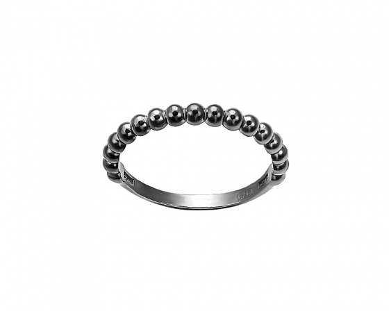 "Image of """"Pendulum swing"" silver ring black rhodium plated"""