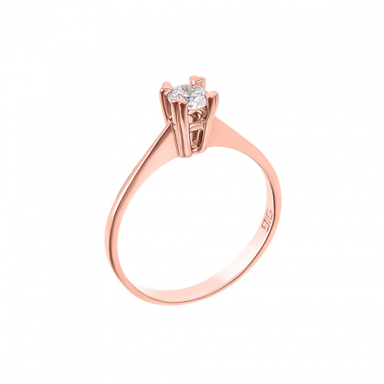 "Image of """"Eternity Plus 001"" rose gold engagement ring K14"""
