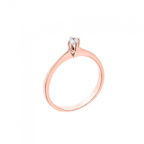 "Image of """"Eternity Plus 002"" rose gold engagement ring K14"""