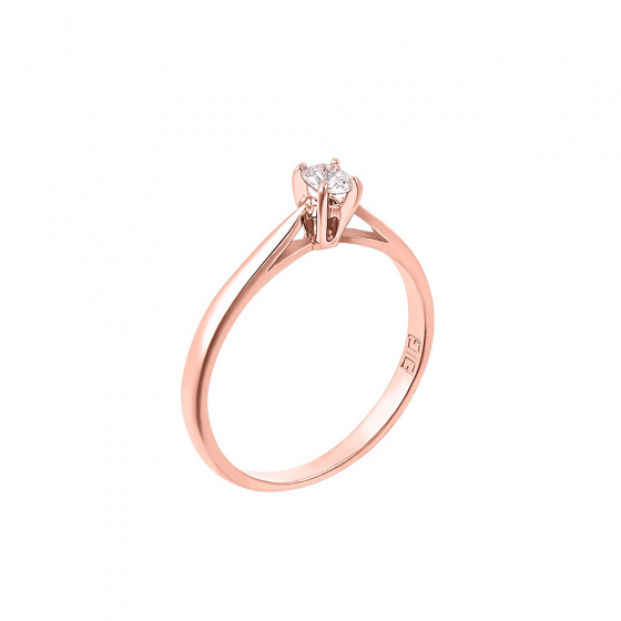 "Image of """"Eternity Plus 003"" rose gold engagement ring K14"""