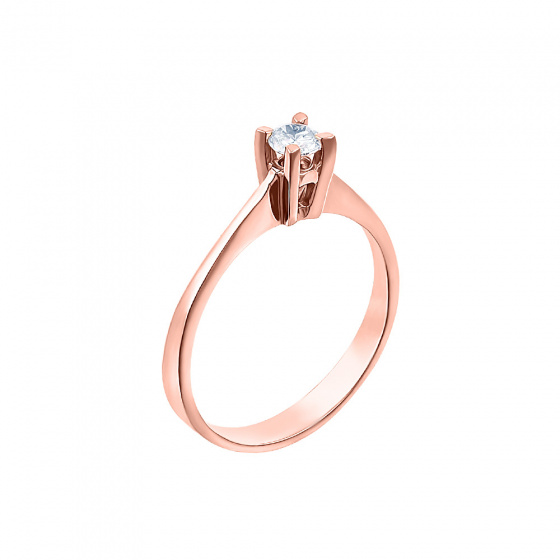 "Image of """"Eternity Plus 004"" rose gold engagement ring K14"""