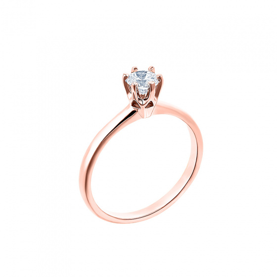 "Image of """"Eternity Plus 007"" rose gold engagement ring K14"""