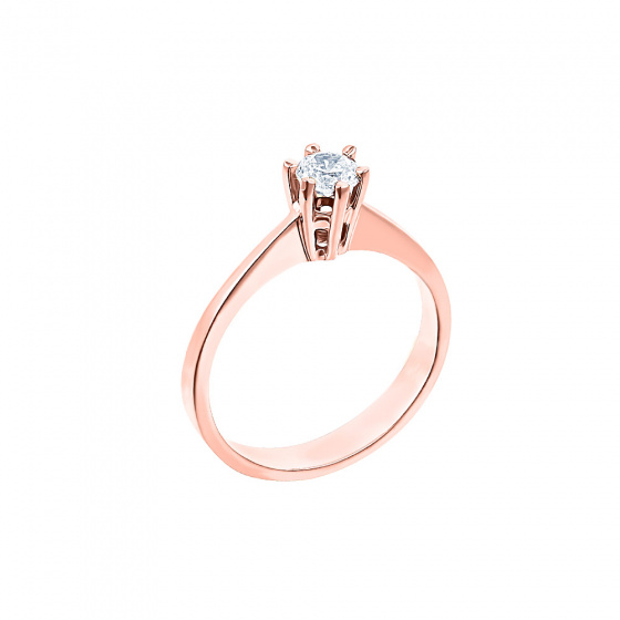 "Image of """"Eternity Plus 008"" rose gold engagement ring K14"""
