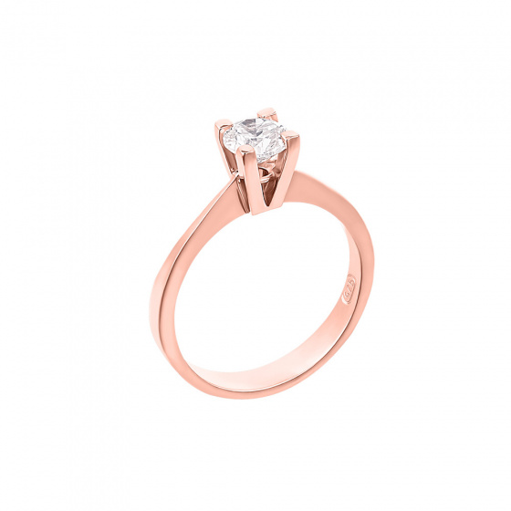 "Image of """"Eternity Plus 009"" rose gold engagement ring K14"""