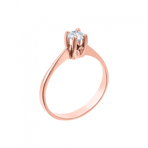 "Image of """"Eternity Plus 010"" rose gold engagement ring K14"""