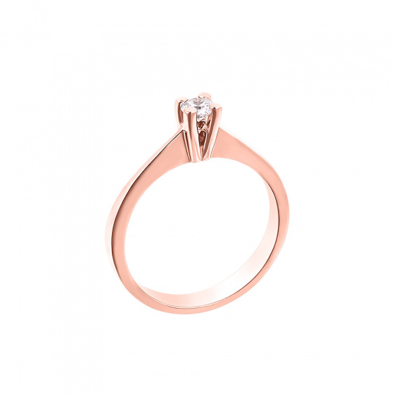 "Image of """"Eternity Plus 012"" rose gold engagement ring K14"""