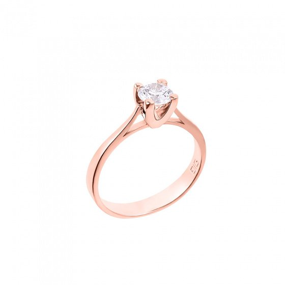 "Image of """"Eternity Plus 015"" rose gold engagement ring K14"""