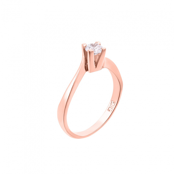 "Image of """"Eternity Plus 018"" rose gold engagement ring K14"""
