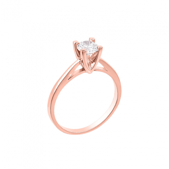 "Image of """"Eternity Plus 020"" rose gold engagement ring K14"""