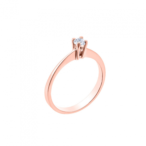 "Image of """"Eternity Plus 021"" rose gold engagement ring K14"""
