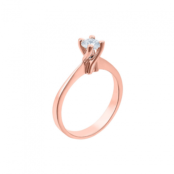 "Image of """"Eternity Plus 022"" rose gold engagement ring K14"""