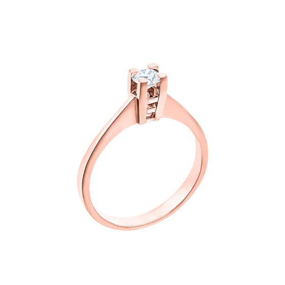 "Image of """"Eternity Plus 023"" rose gold engagement ring K14"""