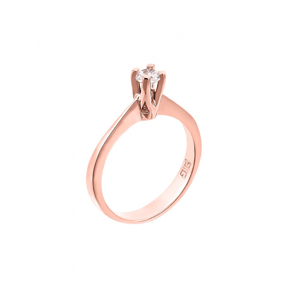 "Image of """"Eternity Plus 024"" rose gold engagement ring K14"""