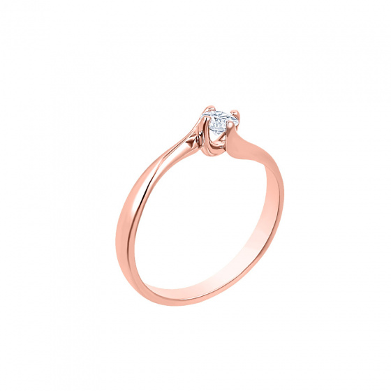 "Image of """"Eternity Plus 025"" rose gold engagement ring K14"""