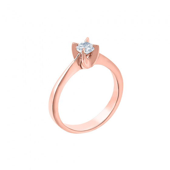 "Image of """"Eternity Plus 027"" rose gold engagement ring K14"""