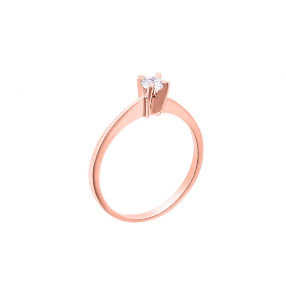 "Image of """"Eternity Plus 028"" rose gold engagement ring K14"""