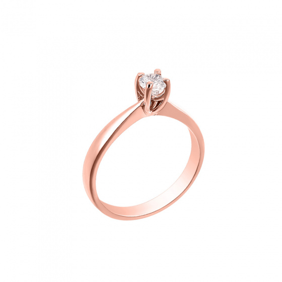 "Image of """"Eternity Plus 029"" rose gold engagement ring K14"""