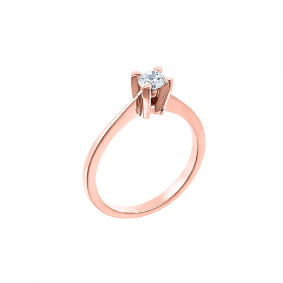 "Image of """"Eternity Plus 030"" rose gold engagement ring K14"""
