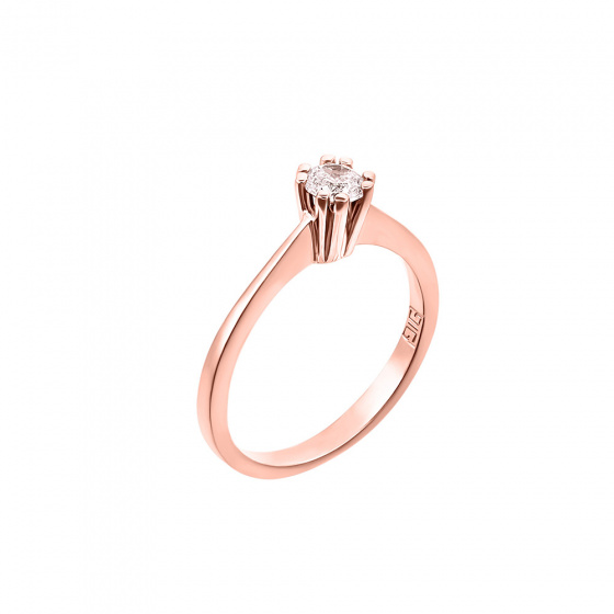 "Image of """"Eternity Plus 033"" rose gold engagement ring K14"""