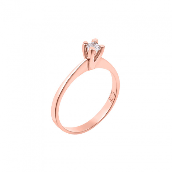 "Image of """"Eternity Plus 035"" rose gold engagement ring K14"""