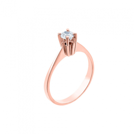 "Image of """"Eternity Plus 036"" rose gold engagement ring K14"""