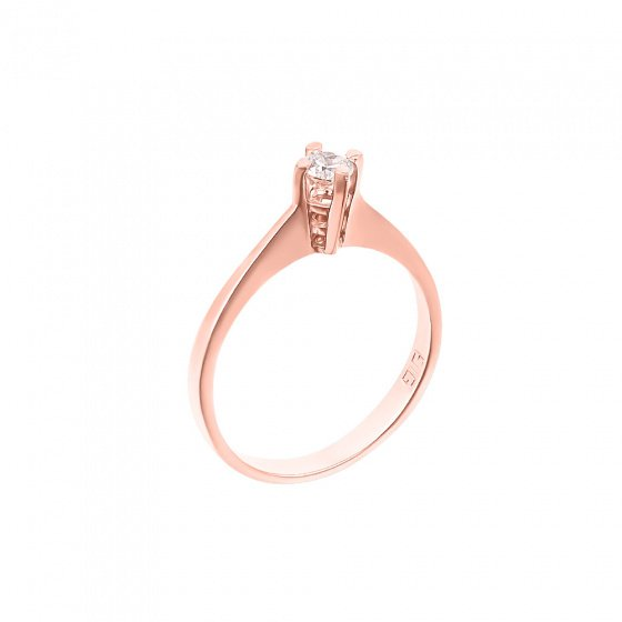 "Image of """"Eternity Plus 040"" rose gold engagement ring K14"""