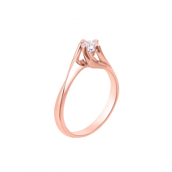 "Image of """"Eternity Plus 042"" rose gold engagement ring K14"""