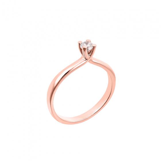 "Image of """"Eternity Plus 043"" - Inel de logodna din aur roz de 14K"""