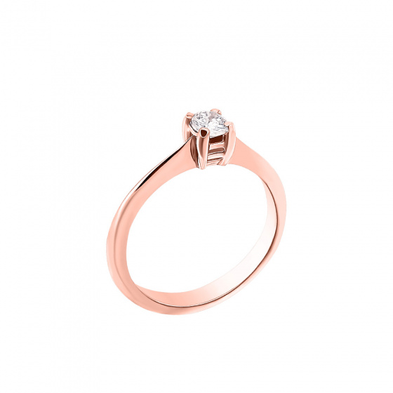 "Image of """"Eternity Plus 044"" rose gold engagement ring K14"""