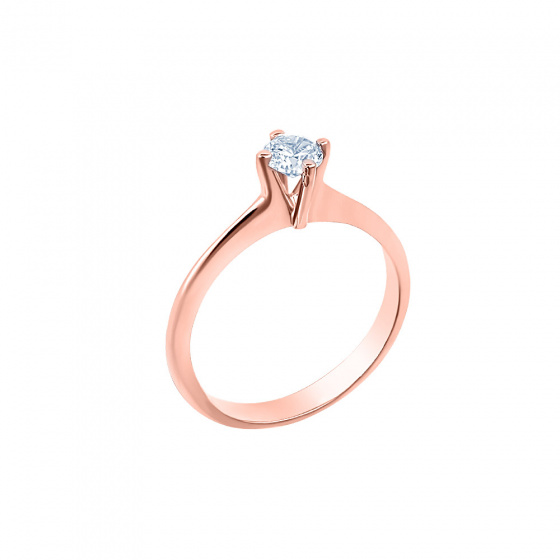"Image of """"Eternity Plus 046"" rose gold engagement ring K14"""