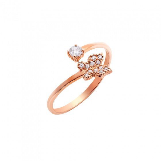 "Image of """"First Day of Spring"" rose gold ring K14"""