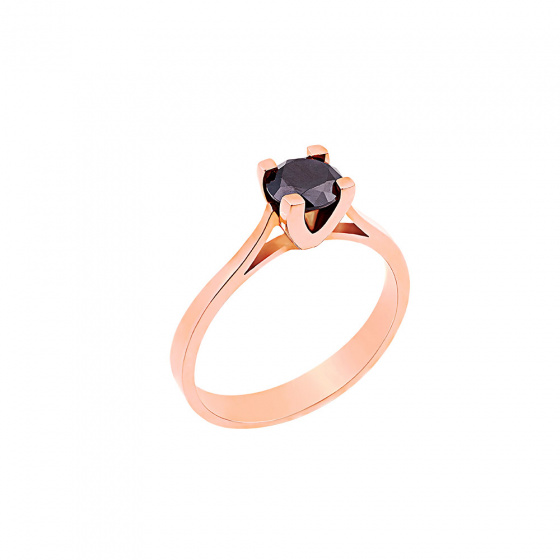 "Image of """"Eternity Plus Black 015"" rose gold engagement ring K14"""