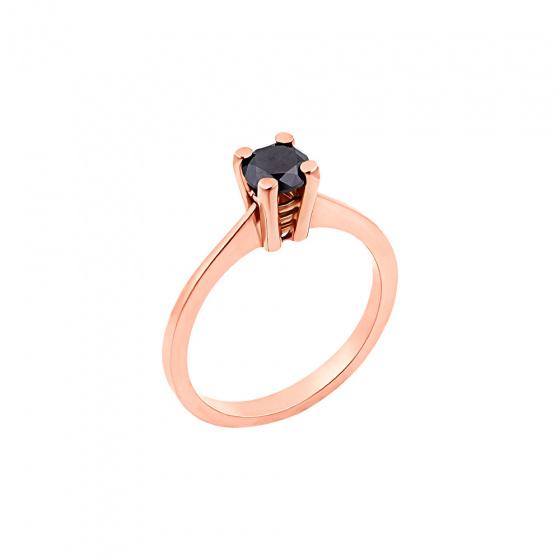 "Image of """"Eternity Plus Black 039"" rose gold engagement ring K14"""