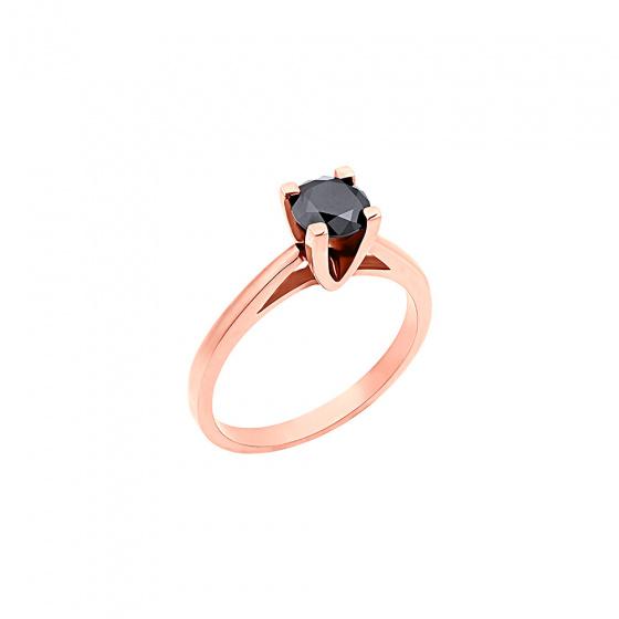 "Image of """"Eternity Plus Black 020"" rose gold engagement ring K14"""