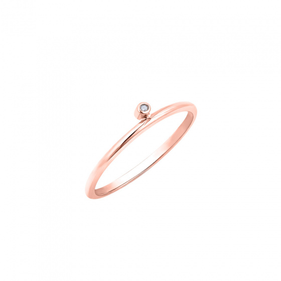 """Εικόνα του """"Ροζ χρυσό δαχτυλίδι Κ14 """"Discreet"""""""""""